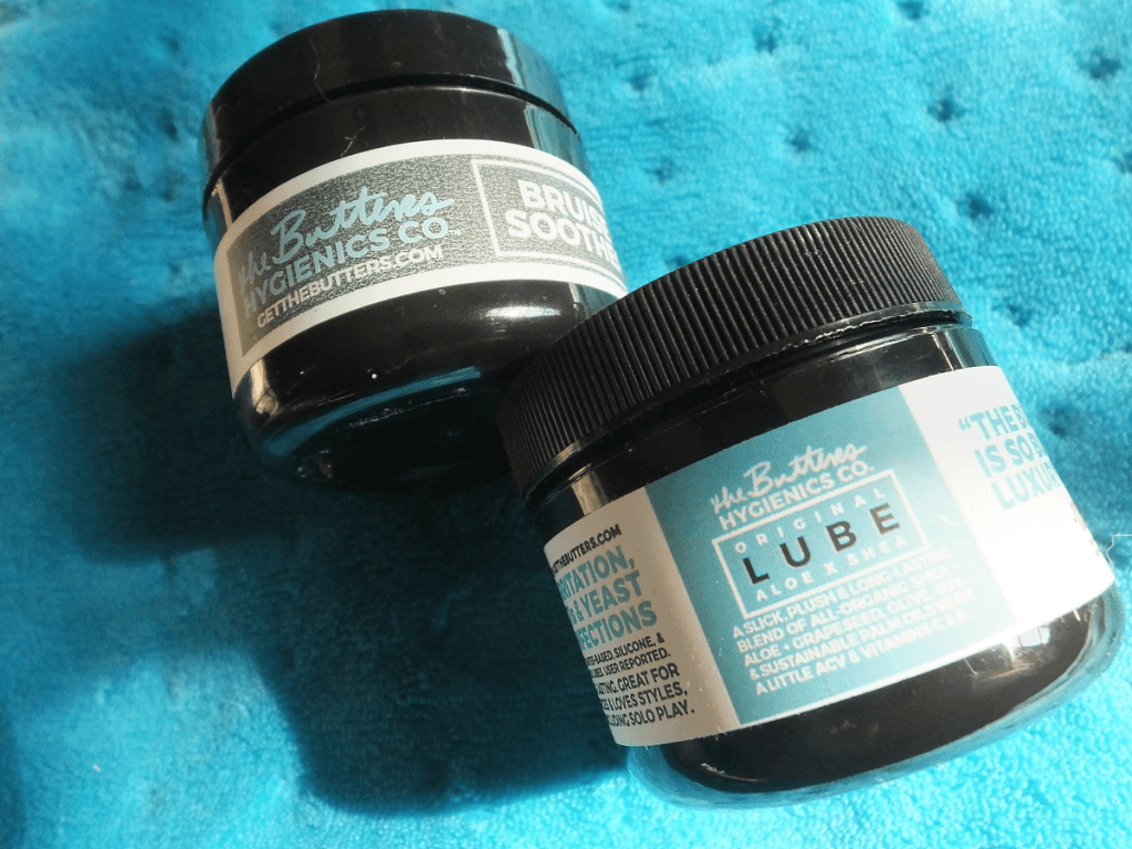 Two jars of products from The Butters Hygienics Co