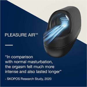 Male masturbator with Pleasure Air Technology for mind-blowing frenulum stimulation